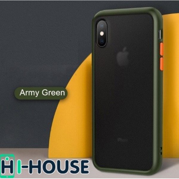 Чехол Gingle Series Case на iPhone Xs/X (Light Green Orange)