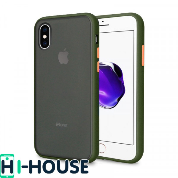 Чехол Gingle Series Case на iPhone Xs Max (Green Red)