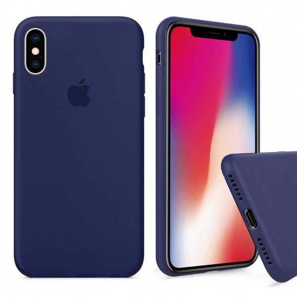 Чехол Silicone Case Full для iPhone XS Max (Midnight Blue)
