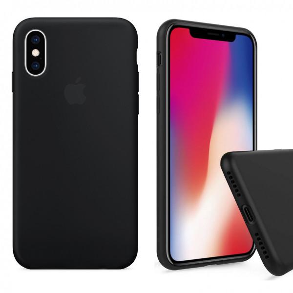 Чехол Silicone Case Full для iPhone XS Max (Black)