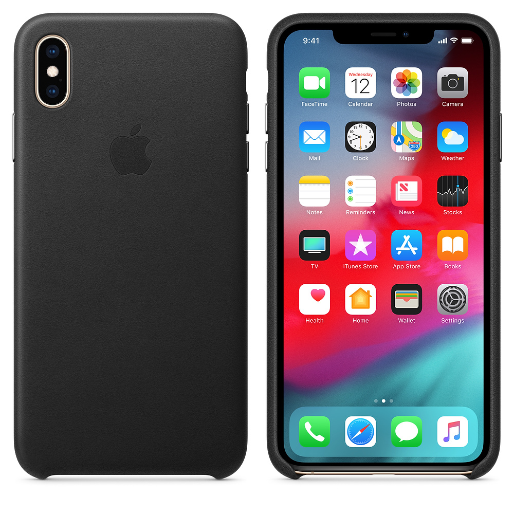 Чехол Good Leather Case для iPhone XS Max (Black)