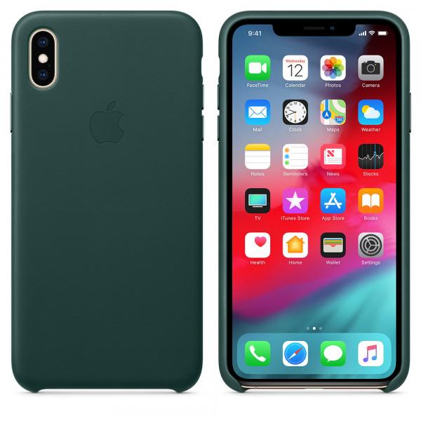 Чехол Good Leather Case для iPhone XS / X (Forest Green)