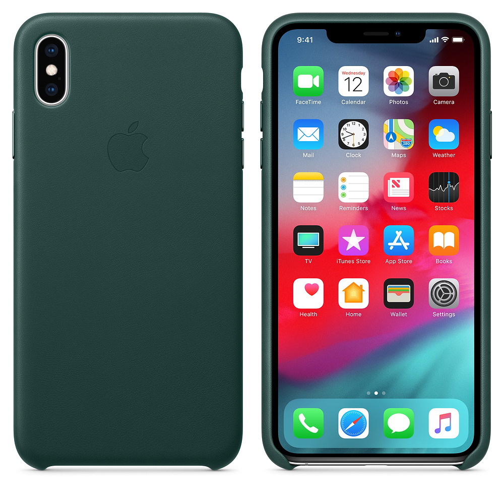 Чехол Good Leather Case для iPhone XS Max (Forest Green)