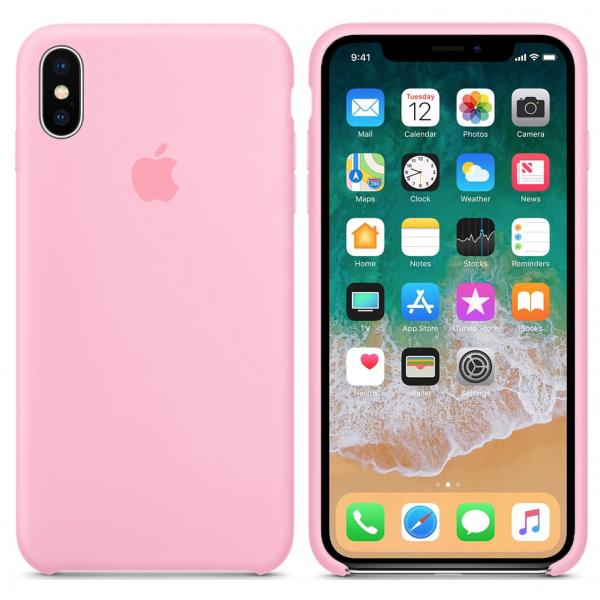 Чехол Silicone Case для iPhone XS Max (Pink) OEM