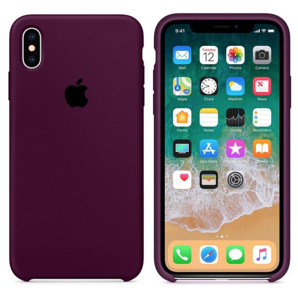 Чехол Silicone Case для iPhone XS Max (Marsala) OEM