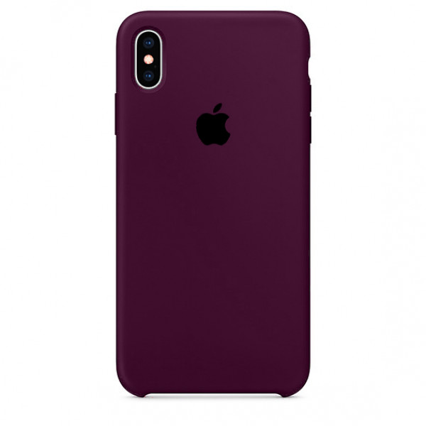 Чехол Silicone Case для iPhone X / XS (Marsala) OEM