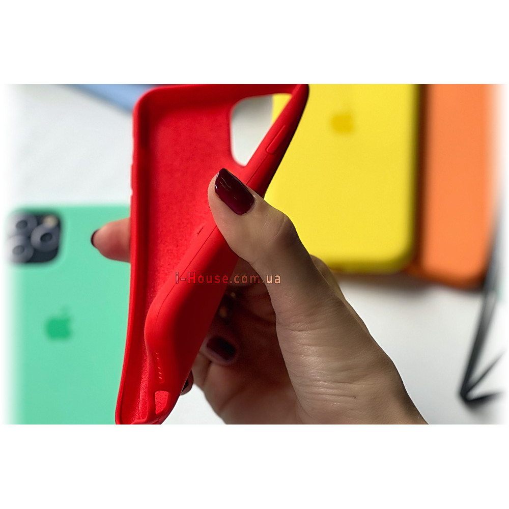 Чехол Silicone Case Full для iPhone XS Max (Glycine)
