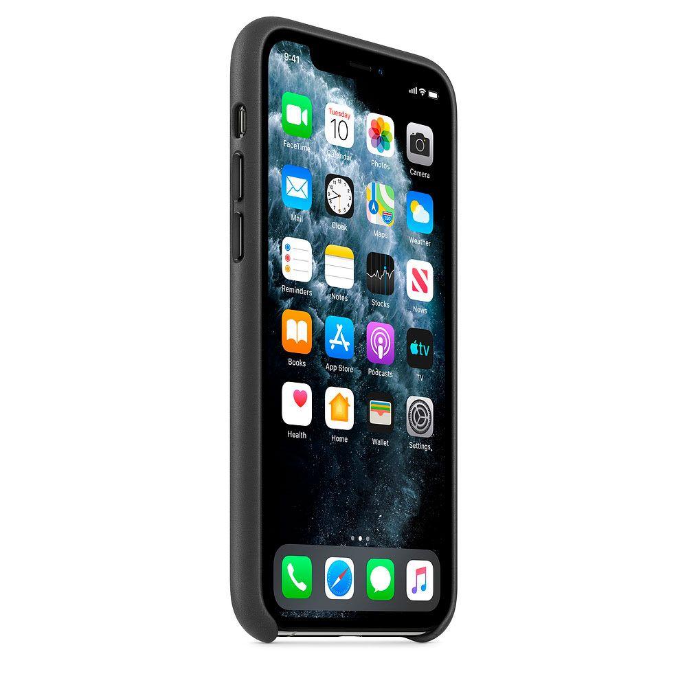 Чехол Good Leather Case iPhone 11 Pro Max (Black)