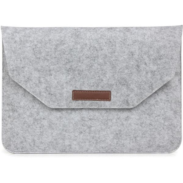 "Чехол папка-конверт на MacBook 15.4"" Felt Sleeve Bag (Silver)"
