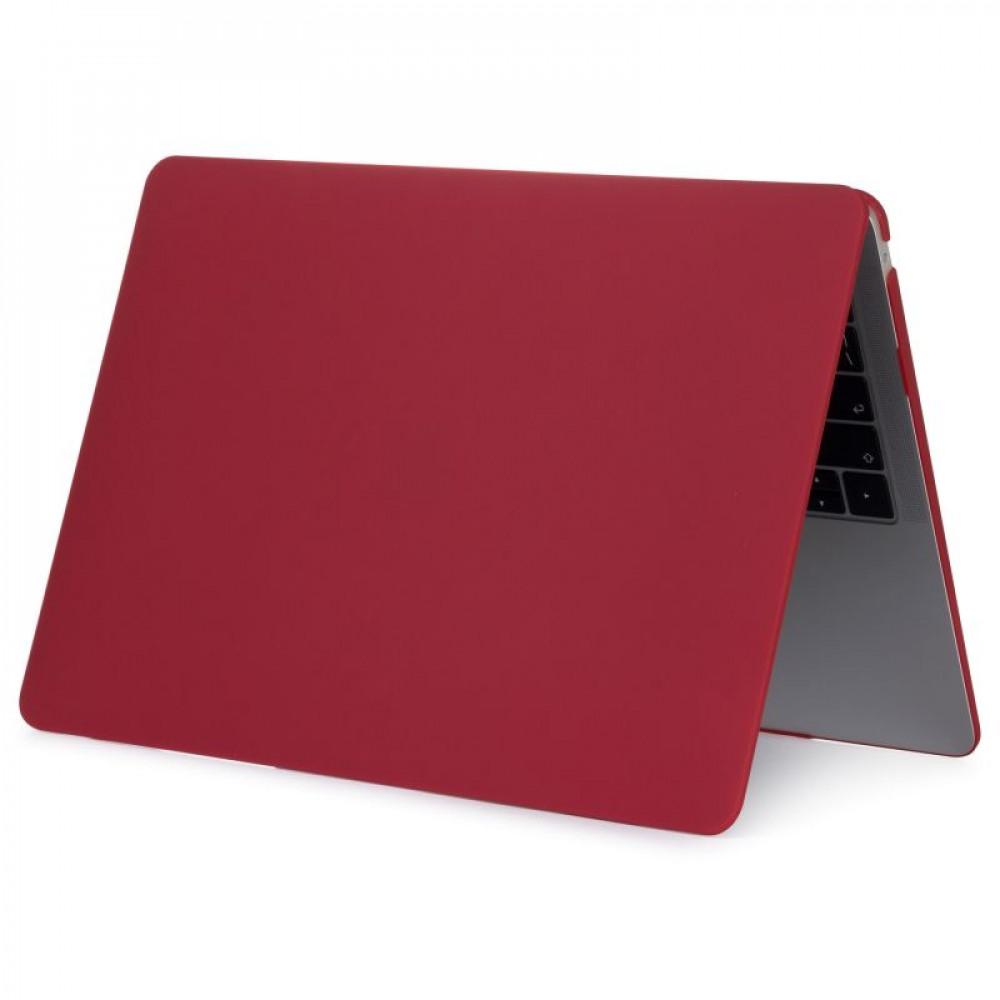 """Чехол-накладка на MacBook Pro 15"""" Retina New DDC пластик (Matte Wine Red)"""