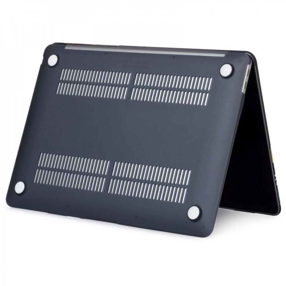"""Чехол-накладка на MacBook Pro 15"""" Retina New DDC пластик (Matte Black)"""