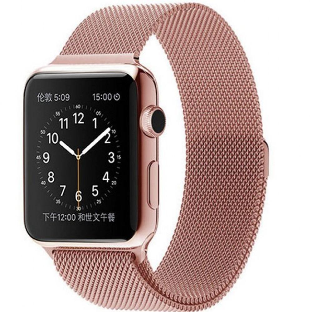 Ремешок Milanese Loop 42mm/44mm Rose Gold для Apple Watch Series 1/2/3/4
