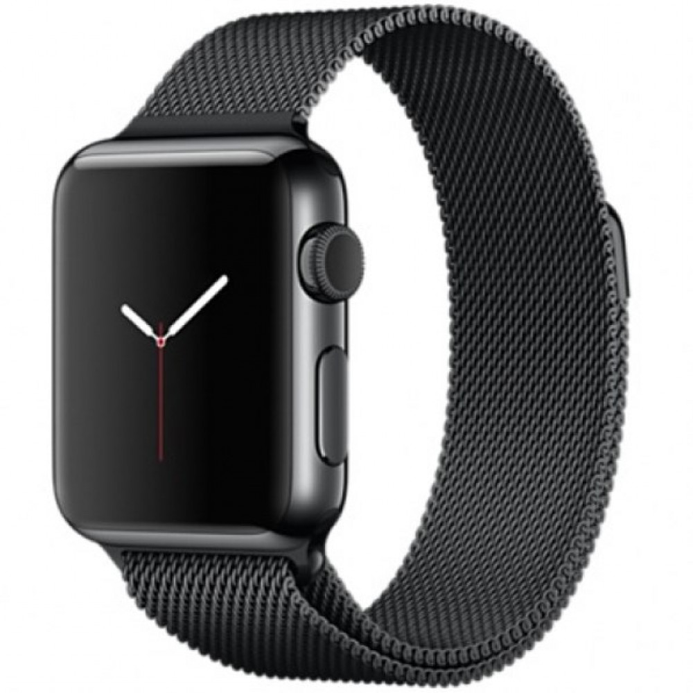 Ремешок Milanese Loop 42mm/44mm для Apple Watch (Black)