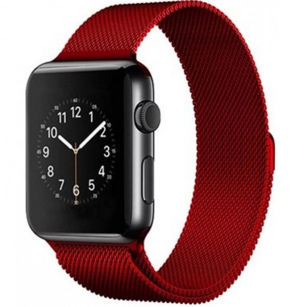 Ремешок Milanese Loop 38mm/40mm Red для Apple Watch Series 1/2/3/4