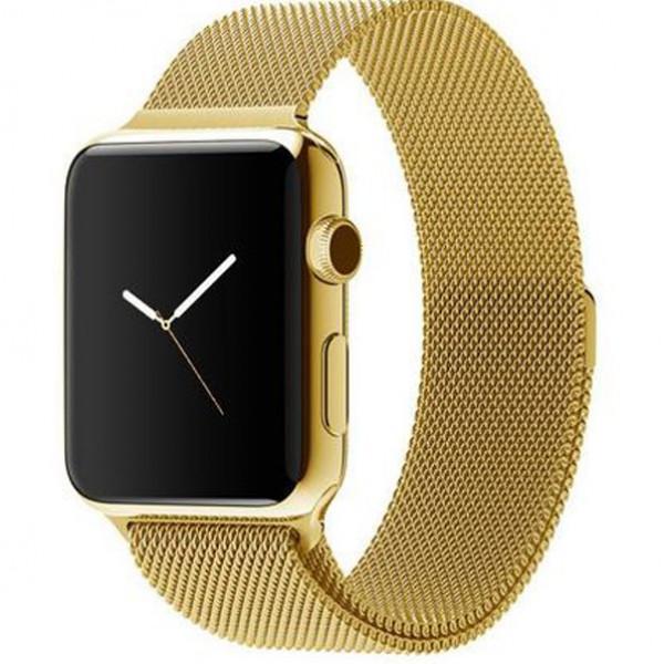 Ремешок Milanese Loop 38mm/40mm для Apple Watch (Gold)