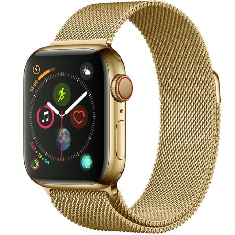 Ремешок Milanese Loop 42mm/44mm для Apple Watch (Light Gold)