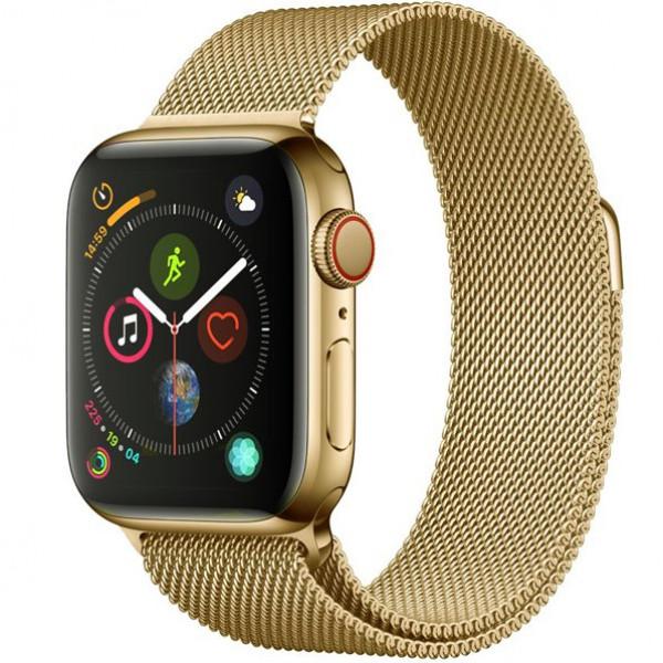 Ремешок Milanese Loop 38mm/40mm для Apple Watch (Light Gold)