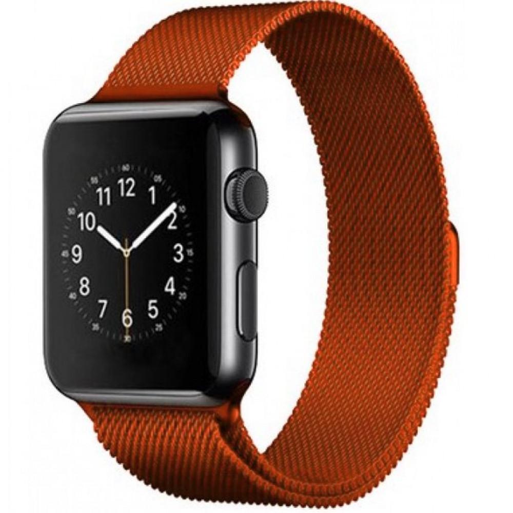 Ремешок Milanese Loop 42mm/44mm Orange для Apple Watch Series 1/2/3/4