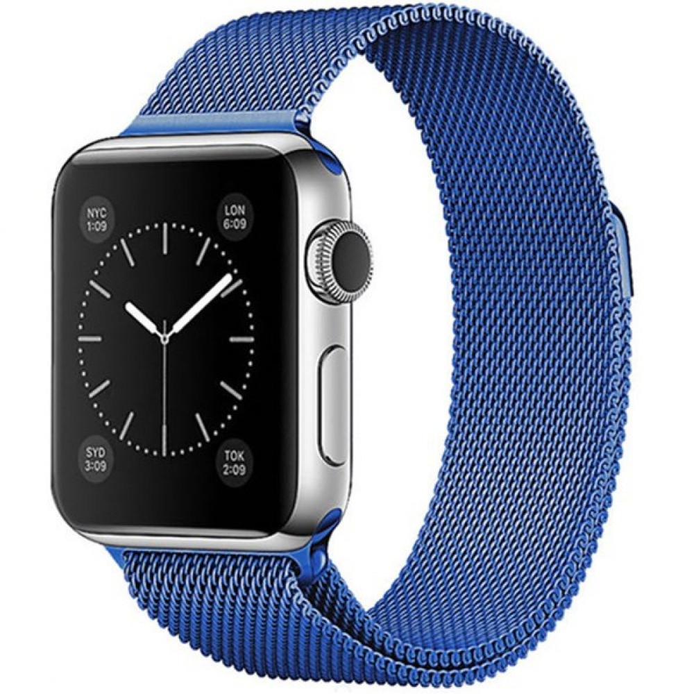 Ремешок Milanese Loop 38mm/40mm для Apple Watch (Blue)