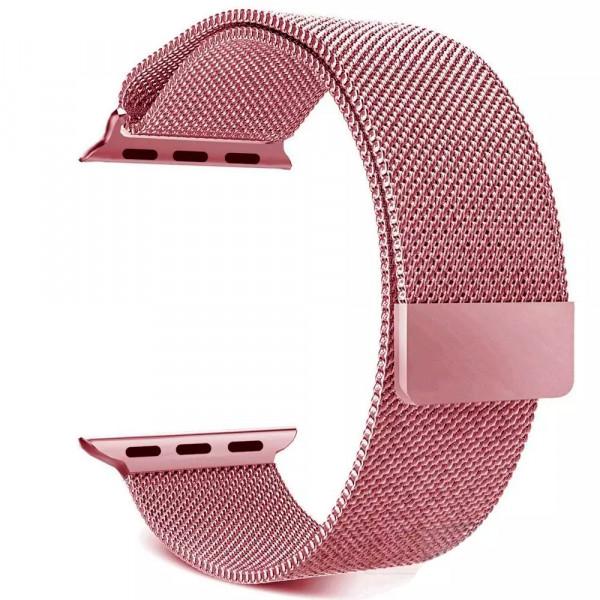 Ремешок Milanese Loop 42mm/44mm для Apple Watch (Rose Gold)