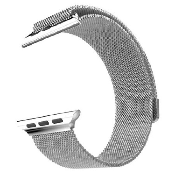 Ремешок Milanese Loop 42mm/44mm для Apple Watch (Silver)