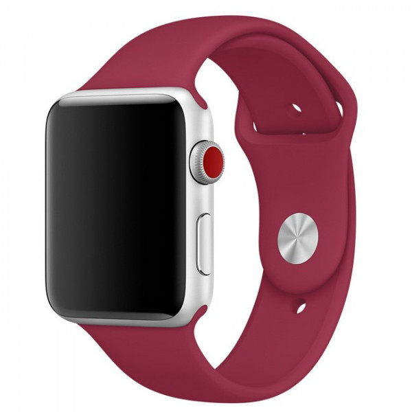 Ремешок Sport Band 44mm/42mm S/M для Apple Watch (Rose Red)