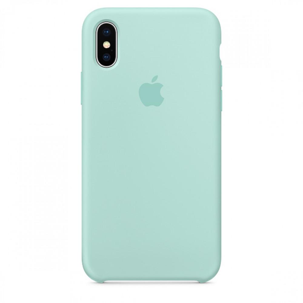 Чехол Silicone Case для iPhone X Marine Green OEM