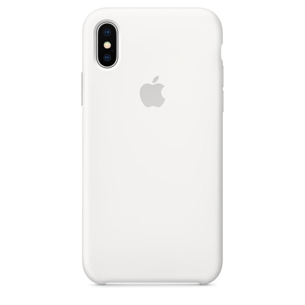 Чехол Silicone Case для iPhone X White OEM