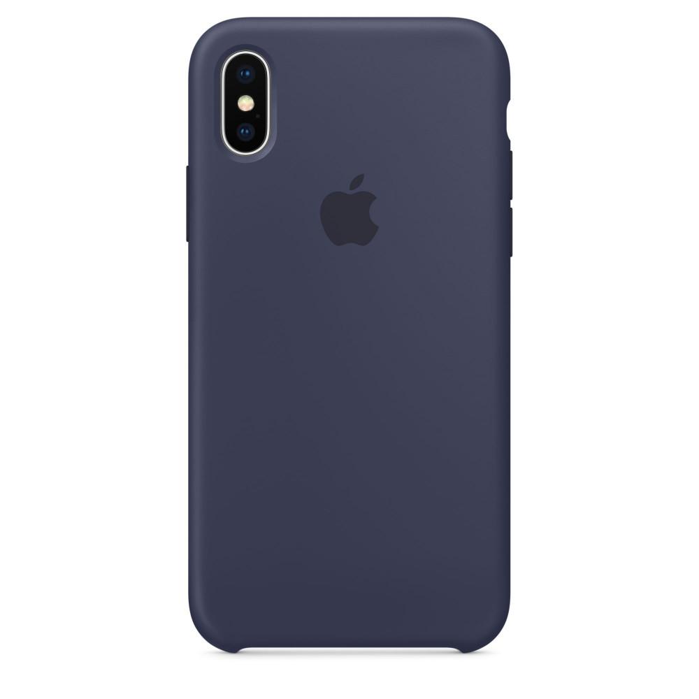 Чехол Silicone Case для iPhone X Midnight Blue OEM