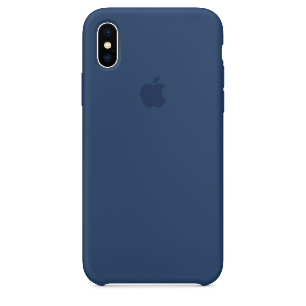 Чехол Silicone Case для iPhone X Blue Cobalt OEM