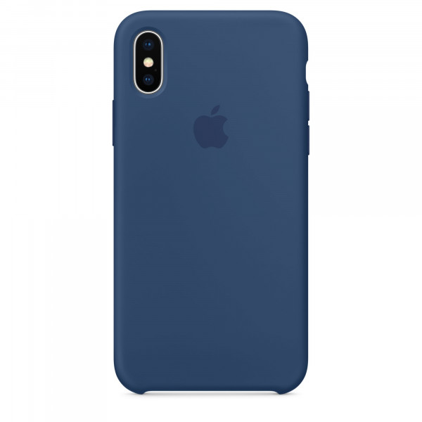 Чехол Silicone Case для iPhone X / XS (Blue Cobalt) OEM
