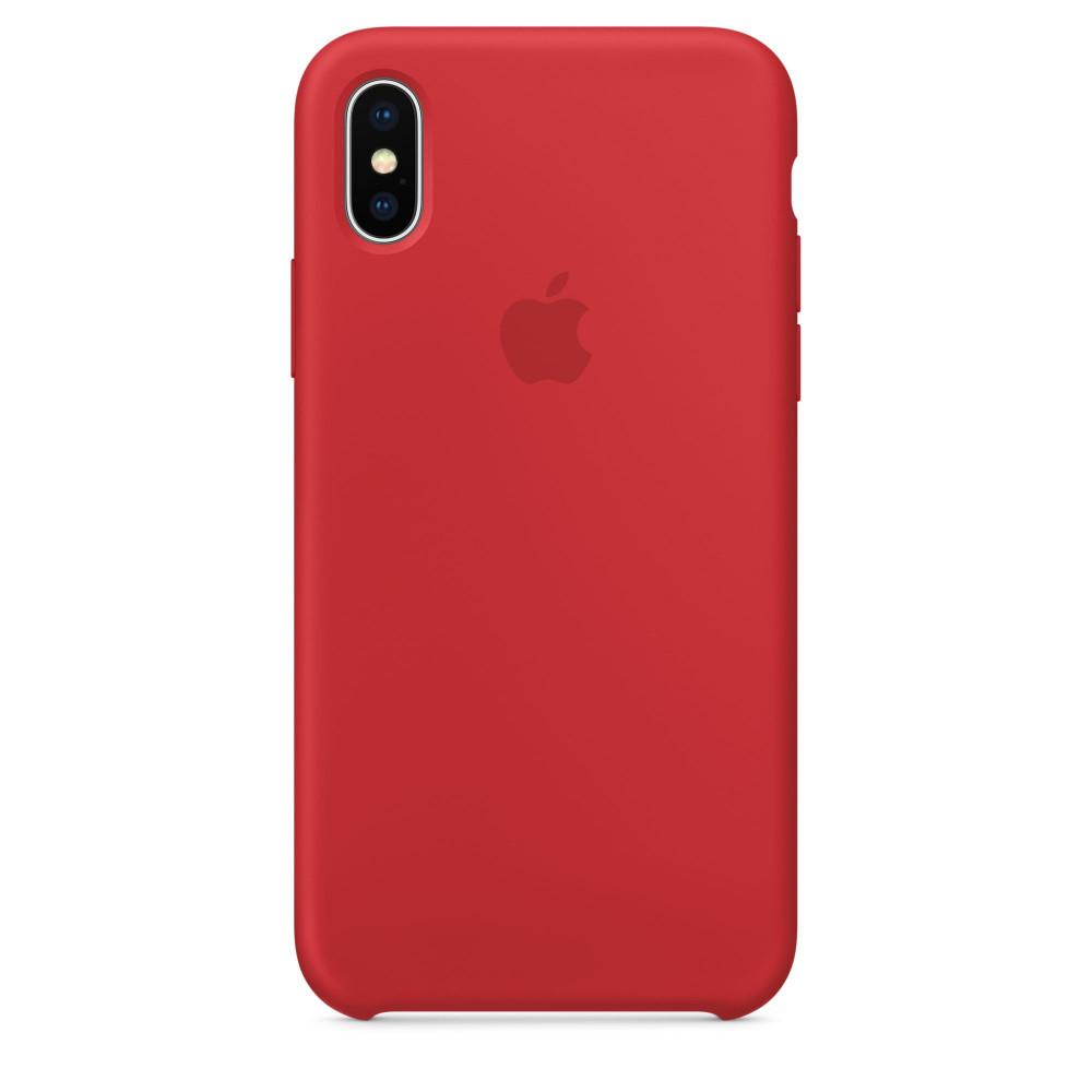 Чехол Silicone Case для iPhone X PRODUCT(RED) OEM
