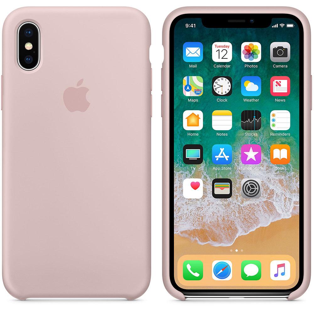 Чехол Silicone Case для iPhone X / XS (Pink Sand) OEM