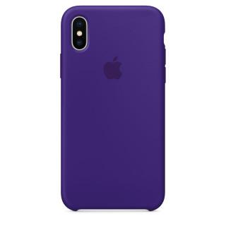 Чехол Silicone Case для iPhone X Ulta Violet OEM