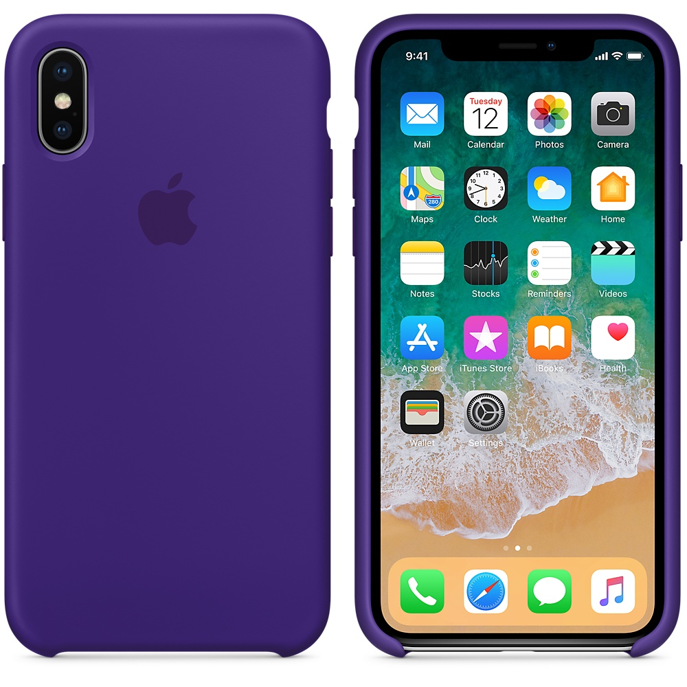 Чехол Silicone Case для iPhone X / XS (Ulta Violet) OEM