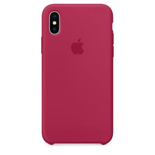 Чехол Silicone Case для iPhone X Rose Red OEM