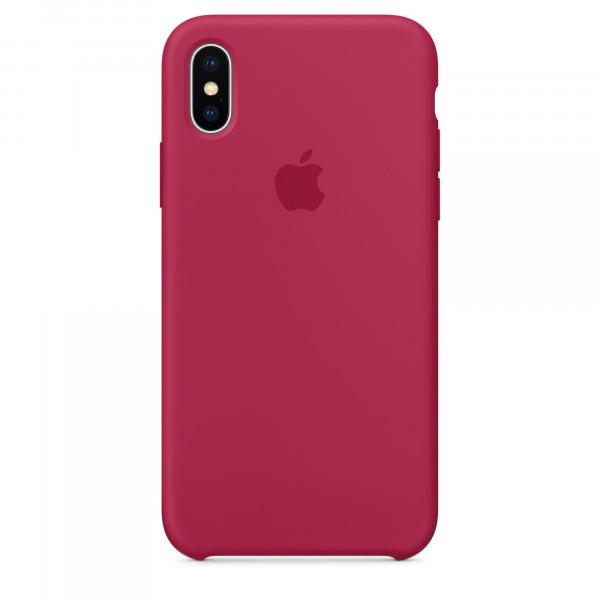 Чехол Silicone Case для iPhone X / XS (Rose Red) OEM