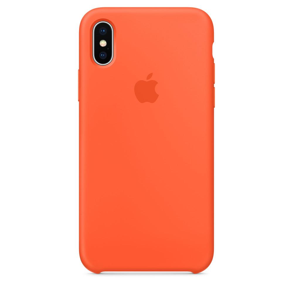 Чехол Silicone Case для iPhone X Spicy Orange OEM