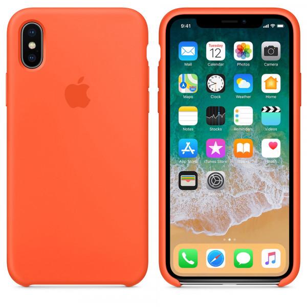 Чехол Silicone Case для iPhone X / XS Spicy Orange OEM