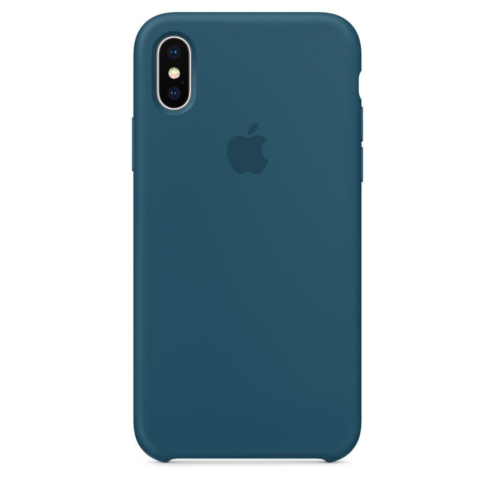 Чехол Silicone Case для iPhone X Cosmos Blue OEM