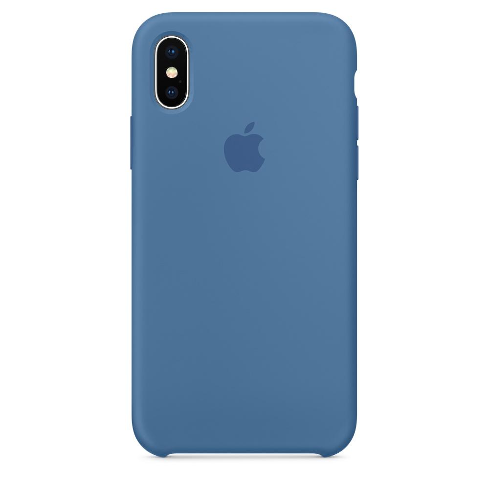 Чехол Silicone Case для iPhone X Denim Blue OEM