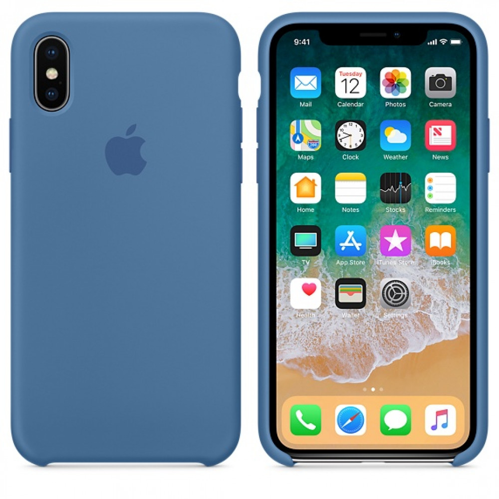 Чехол Silicone Case для iPhone X / XS (Denim Blue) OEM