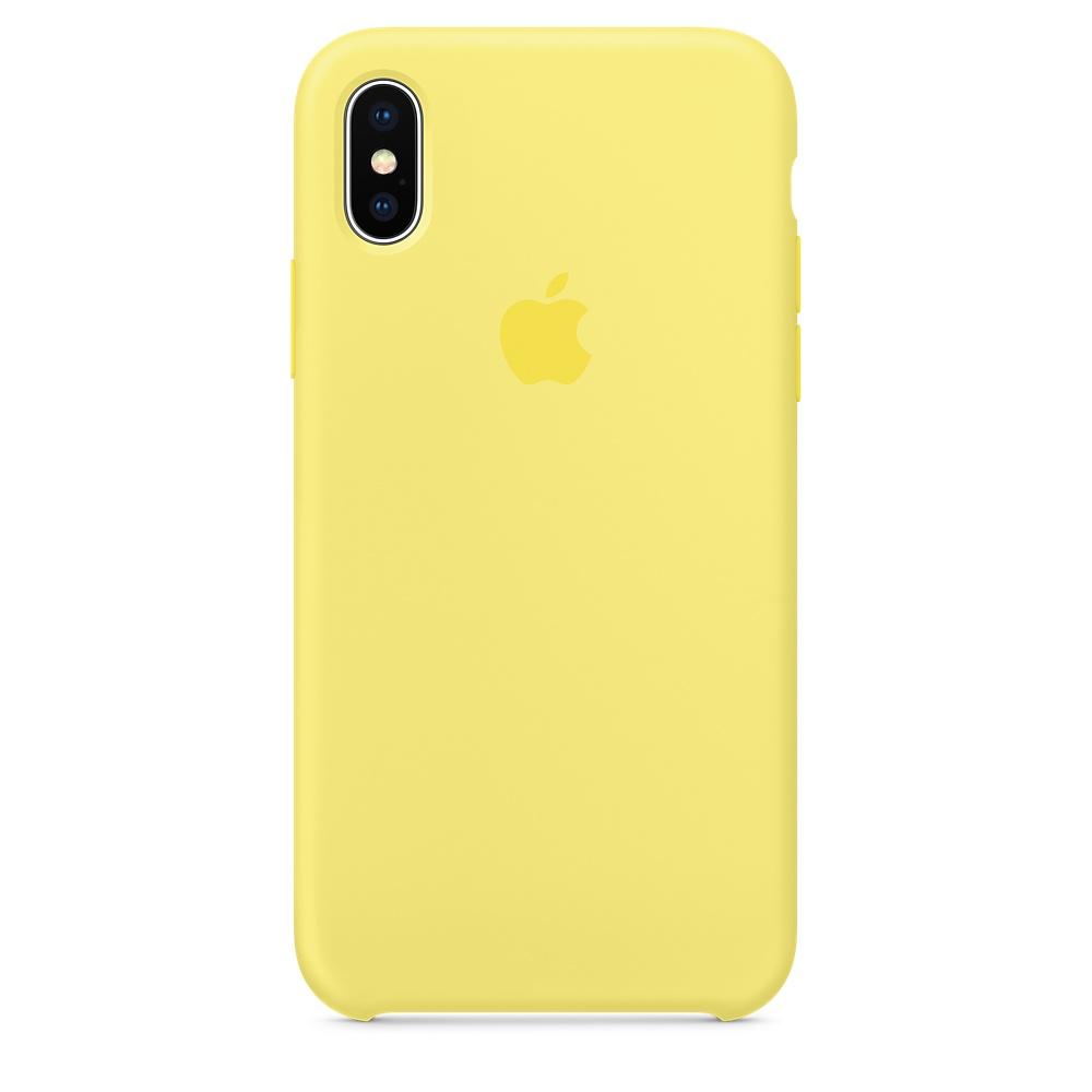 Чехол Silicone Case для iPhone X Lemonade OEM