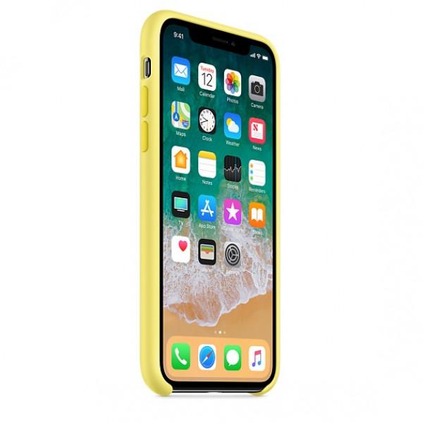 Чехол Silicone Case для iPhone X / XS (Lemonade) OEM