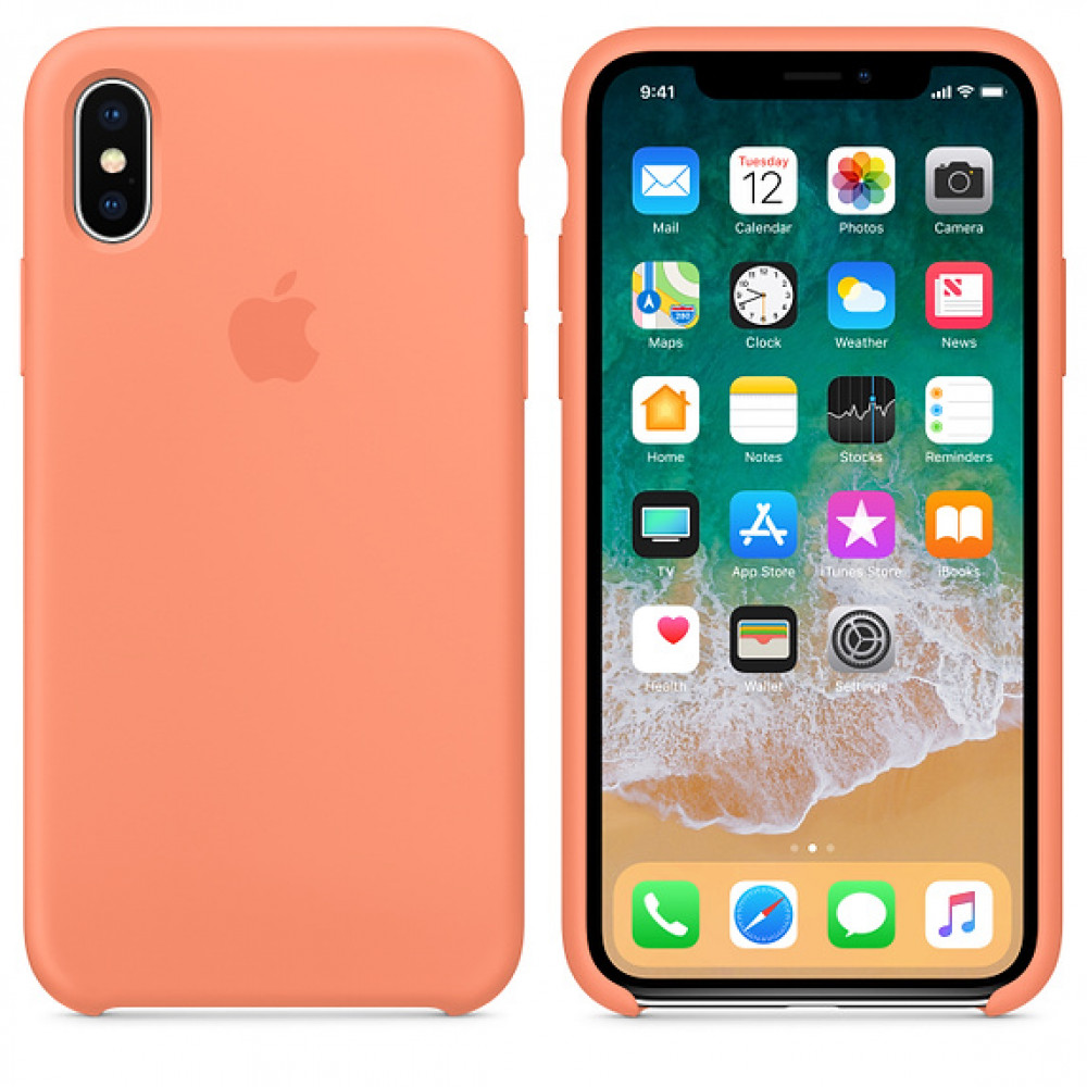 Чехол Silicone Case для iPhone X / XS (Peach) OEM