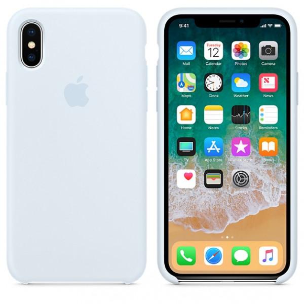 Чехол Silicone Case для iPhone X / XS (Sky Blue) OEM