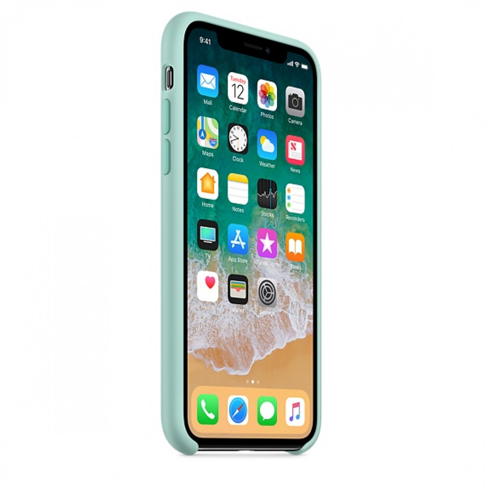 Чехол Silicone Case для iPhone X / XS (Marine Green) OEM
