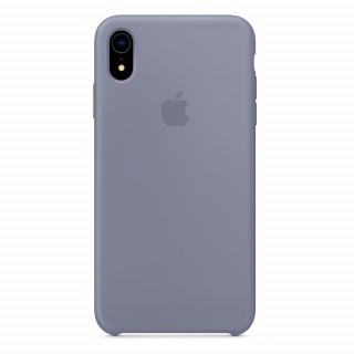 Чехол Silicone Case для iPhone XR Lavender Gray OEM