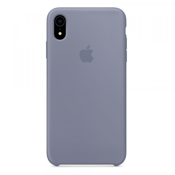 Чехол Silicone Case для iPhone XR Lavender Gray OEM