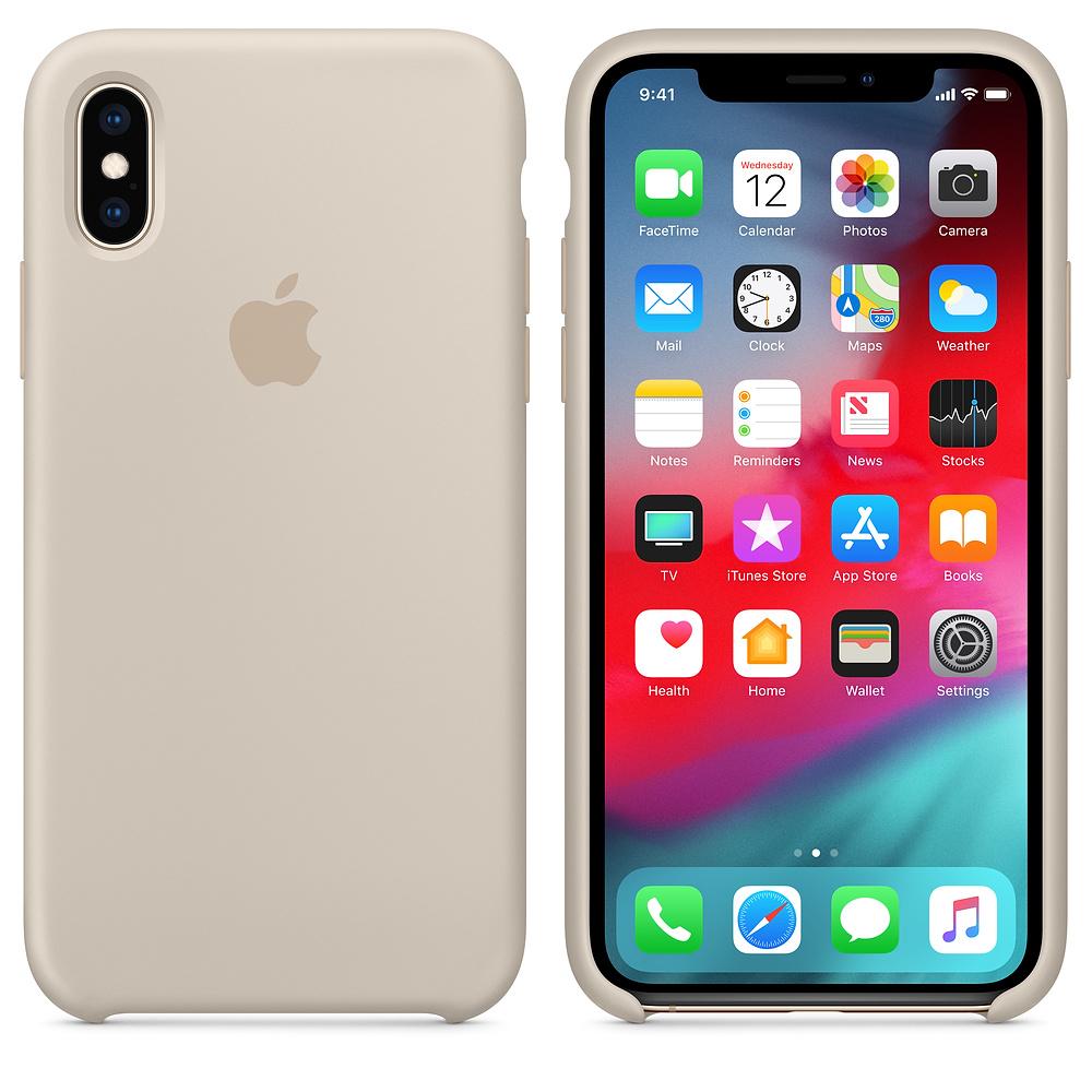 Чехол Silicone Case для iPhone X / XS (Stone) OEM